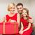 heyecanlı · küçük · kız · açılış · Noel · sunmak - stok fotoğraf © dolgachov