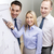 equipo · de · negocios · bordo · debate · negocios · oficina · sonriendo - foto stock © dolgachov