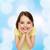 adorável · little · girl · positivo · rosto · sorridente · menina · cara - foto stock © dolgachov