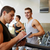 men exercising on treadmill in gym stock photo © dolgachov