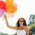 meisje · vieren · verjaardag · zonnebril · witte - stockfoto © dolgachov