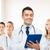glimlachend · mannelijke · arts · geneeskunde · beroep · advertentie - stockfoto © dolgachov