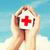 mãos · casa · doador · assinar · saúde - foto stock © dolgachov