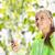 caber · mulher · celular · escuta · música · feliz - foto stock © dolgachov