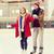 happy couple on skating rink stock photo © dolgachov