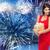 красивой · сексуальная · женщина · красное · платье · фейерверк · люди · праздников - Сток-фото © dolgachov