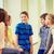 grupo · sorridente · escolas · crianças · falante · corredor - foto stock © dolgachov