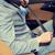 człowiek · jazdy · samochodu · bezpieczeństwa · pasa · lasu - zdjęcia stock © dolgachov