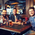 gelukkig · mannelijke · vrienden · drinken · bier · bar - stockfoto © dolgachov