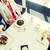 vrouwen · smartphone · restaurant · mensen · vakantie - stockfoto © dolgachov