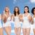 group of happy different women celebrating victory stock photo © dolgachov