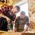 大工 · 訓練 · 木材 · バッテリー · ドリル · 建設現場 - ストックフォト © dolgachov