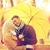 para · całując · parasol · widok · z · boku · portret · młodych - zdjęcia stock © dolgachov