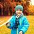 fiatal · srác · játszik · mező · zöld · füves · madár - stock fotó © dolgachov
