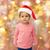 beautiful little baby girl in christmas santa hat stock photo © dolgachov