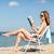 menina · leitura · livro · verão · férias - foto stock © dolgachov