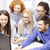 business · team · monitor · discussie · business · technologie · kantoor - stockfoto © dolgachov