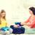 Sitzung · Couch · glücklich · Freunde · Mädchen - stock foto © dolgachov