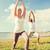 çift · yoga · açık · havada · uygunluk · spor - stok fotoğraf © dolgachov