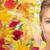 gyönyörű · fiatal · nő · arc · őszi · levelek · szépség · emberek - stock fotó © dolgachov