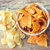 nachos · chips · tazón · blanco · caliente · comer - foto stock © dolgachov