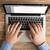 közelkép · férfi · kezek · laptop · notebook · üzlet - stock fotó © dolgachov