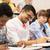 grup · Öğrenciler · kahve · yazı · ders · eğitim - stok fotoğraf © dolgachov