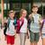 tini · barátok · diákok · mutat · remek · barátság - stock fotó © dolgachov