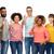 internationale · groep · gelukkige · mensen · tonen · diversiteit - stockfoto © dolgachov