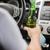 sarhoş · adam · araba · şişe · bira · yol - stok fotoğraf © dolgachov