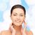 mooie · jonge · vrouw · gezicht · schoonheid · mensen · gezondheid - stockfoto © dolgachov