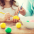 nina · madre · huevos · Pascua · familia - foto stock © dolgachov