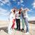 groep · glimlachend · tieners · tonen · vriendschap - stockfoto © dolgachov