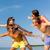 sorridente · amigos · verão · praia · amizade - foto stock © dolgachov