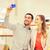 boldog · pár · okostelefon · elvesz · bevásárlóközpont · vásár - stock fotó © dolgachov