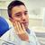 férfi · fogfájás · ül · fogászati · szék · emberek - stock fotó © dolgachov
