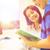 schoolmeisje · leraar · lezing · primair · klasse · vrouw - stockfoto © dolgachov