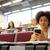 африканских · студент · девушки · смартфон · лекция · образование - Сток-фото © dolgachov