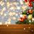 empty wooden surface over christmas tree lights stock photo © dolgachov