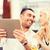 счастливым · пару · ресторан · терраса · любви - Сток-фото © dolgachov