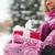kadın · Noel · hediye · açık · havada · kış - stok fotoğraf © dolgachov