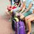 elementary school students sitting on bench stock photo © dolgachov