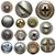 セット · 金属 · ジーンズ · ボタン · 孤立した - ストックフォト © donatas1205