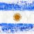 Argentína · zászló · ecsetvonások · fehér · textúra · kék - stock fotó © donatas1205