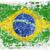 Гранж · футбола · флаг · Бразилия · 3d · иллюстрации · дизайна - Сток-фото © donatas1205