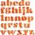suluboya · alfabe · yalıtılmış · kâğıt · turuncu - stok fotoğraf © donatas1205