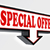 special offer sign with arrow stock photo © donskarpo