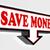 save money red and black arrow sign stock photo © donskarpo