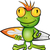 frog cartoon surfer stock photo © doomko