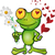 frog cartoon in love stock photo © doomko